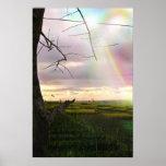 Felder von Bali Posterdruck