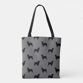 Feldspaniel-Silhouette-Muster-Grau Tasche