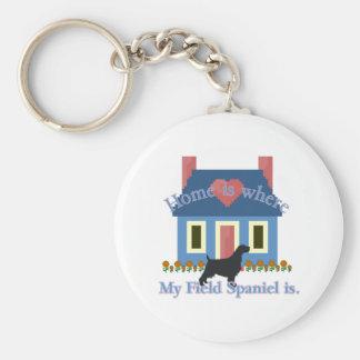 Feldspaniel-Zuhause ist Schlüsselanhänger