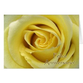 Felice Anniversario, italienischer Hochzeitstag Grußkarte