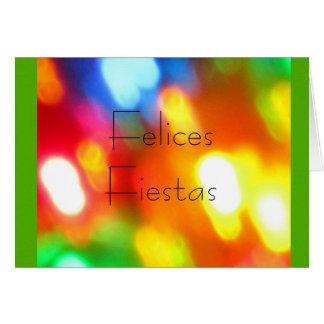 Felices Fiestas - Mehrfarben Karte