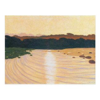 Felix Vallotton - Abendsszene Postkarte