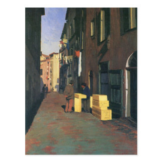 Felix Vallotton - alte Straße in Nizza Frankreich Postkarte