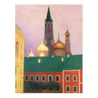 Felix Vallotton - Ansicht des Kremls in Moskau Postkarte
