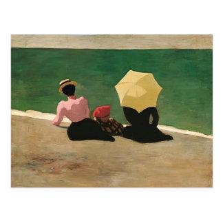 Felix Vallotton - auf dem Strand Postkarte