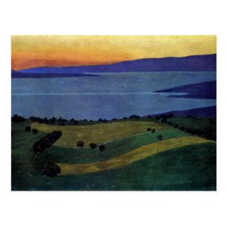 Felix Vallotton - der See Leman, Effekt des Abends Postkarte
