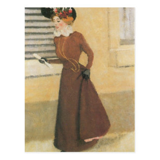 Felix Vallotton - Frau mit Hut Postkarte