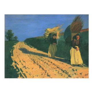 Felix Vallotton - Holz-Lager Frauen Postkarte