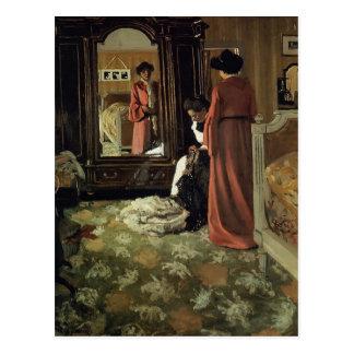 Felix Vallotton - Innenraum, Schlafzimmer mit zwei Postkarte