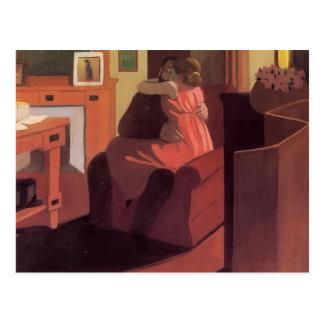 Felix Vallotton - Intimitäts-Paar im Innenraum Postkarte