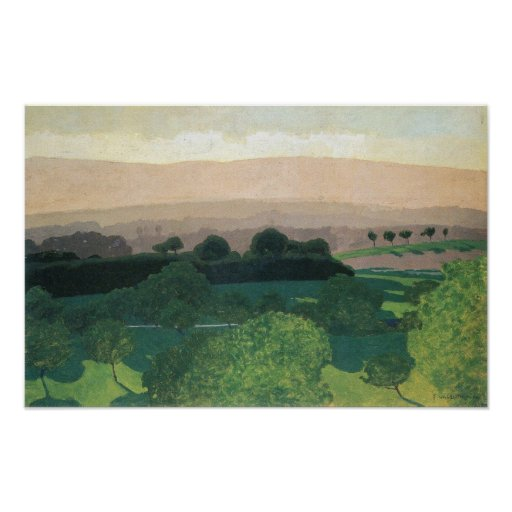 Felix vallotton landschaft in romanel plakate zazzle - Vallotton architect ...