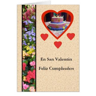 Feliz Cumpleaños en Durchmesser San Valentin Karte