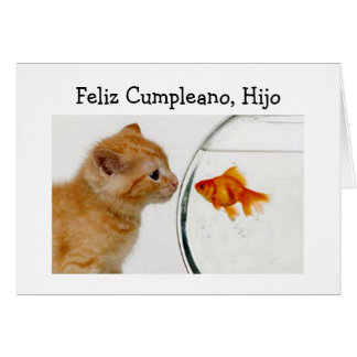 FELIZ CUMPLEANOS, HIJO=HAPPY GEBURTSTAGS-SOHN KARTE
