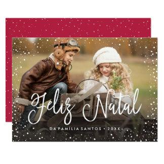 Feliz Geburts-   Cartão de Natal 12,7 X 17,8 Cm Einladungskarte