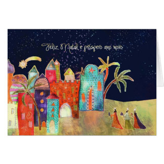 Feliz Geburts-, frohe Weihnachten auf Karte