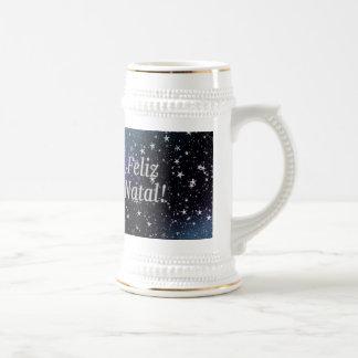 Feliz Geburts-! Frohe Weihnachten im Bierglas