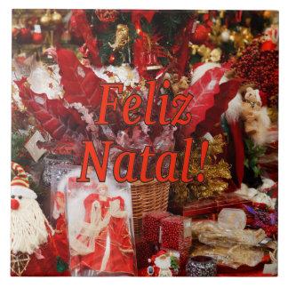 Feliz Geburts-! Frohe Weihnachten in Keramikfliese