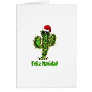Feliz Navidad - Arizona-Weihnachtssaguaro-Lichter Karte