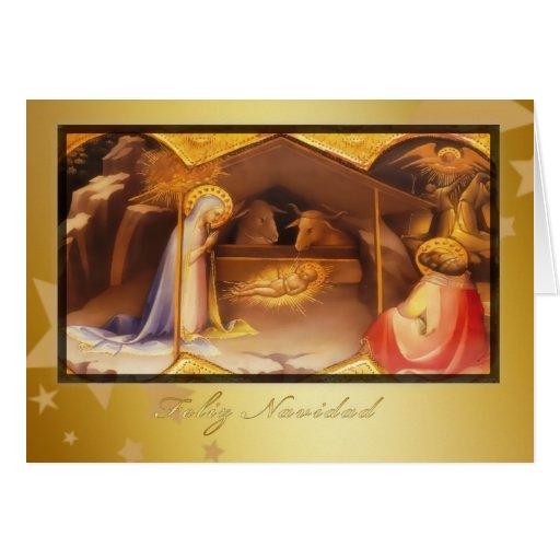 Feliz Navidad, frohe Weihnachten auf spanisch Karten