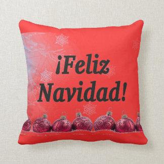 ¡ Feliz Navidad! Frohe Weihnachten in spanischem Kissen