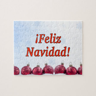 ¡ Feliz Navidad! Frohe Weihnachten in spanischem Puzzle