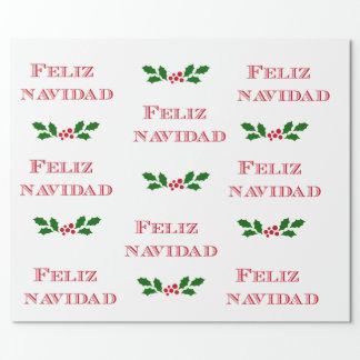 Feliz Navidad Geschenkverpackung Geschenkpapier