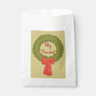 Feliz Navidad Kranz Geschenktütchen