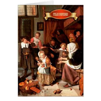 Feliz Navidad. Kunst-spanische Weihnachtskarten Karte