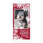 Feliz Navidad - lassen Sie es schneien! Personalisierte Photo Karte
