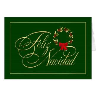Feliz Navidad - spanische tarjetas - Feiertags-Kar Karte