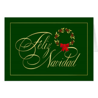 Feliz Navidad - spanische tarjetas - Karte