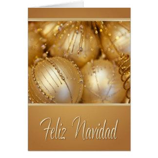 Feliz Navidad spanische Weihnachtskarte Karte