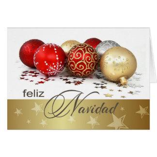 Feliz Navidad. Spanische Weihnachtskarten Karte