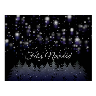 Feliz Navidad spanischer Weihnachtssternenklare Postkarte