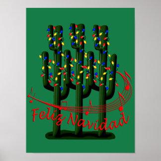 Feliz Navidad Weihnachtsfiesta-Party-Plakat Poster