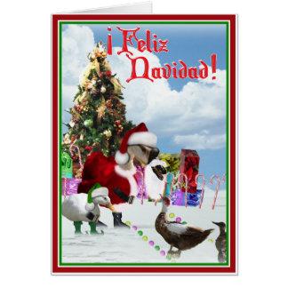 Feliz Navidad - Weihnachtssankt-Gans w/Ducks Karte