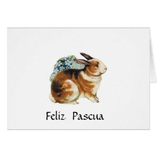 Feliz Pascua, fröhliche Ostern auf spanisch Karte