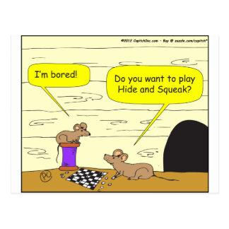 Fell 295 und Quietschen-Cartoon Postkarte