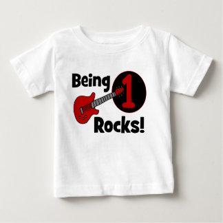 Felsen 1 sein! Der 1. Geburtstag des Baby T-shirt