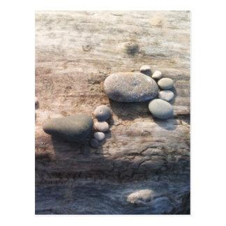 Felsen-Abdrücke Postkarte