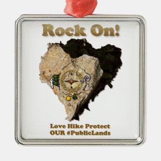 FELSEN AN! Liebe-Wanderung schützen unsere Silbernes Ornament