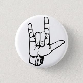 Felsen an! runder button 3,2 cm