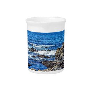 Felsen auf dem beach01 getränke pitcher