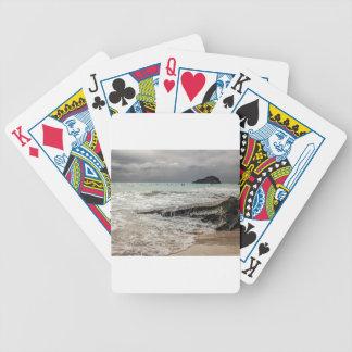Felsen auf dem beach02 bicycle spielkarten