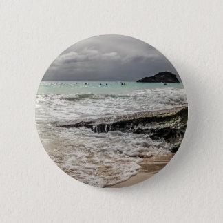 Felsen auf dem beach02 runder button 5,7 cm
