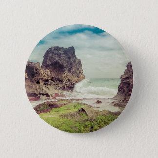 Felsen auf dem beach03 runder button 5,7 cm