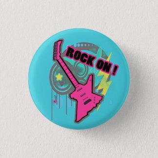 Felsen auf Knopf Runder Button 3,2 Cm