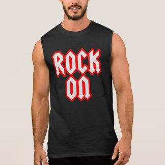 Felsen auf schwarzem Sleeveless Rocker-Shirt Kurzarm T-Shirts