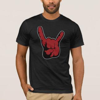 Felsen auf Typ! Teufel-Finger-Shirt! Doppeltes T-Shirt
