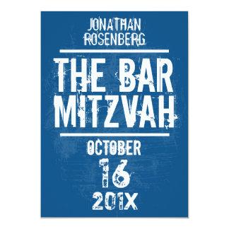 Felsen-Band-Bar Mitzvah alle Einladung tippen Blau